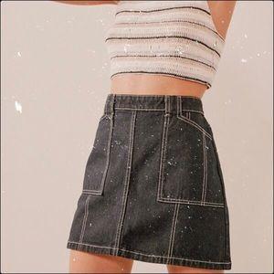 UO BDG denim workwear contrast stitch mini skirt